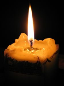 Peace & Power Symbol: Burning Candle
