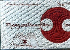 Margaretdaughters banner made by Margaret Eldridge (Charlene's mother)