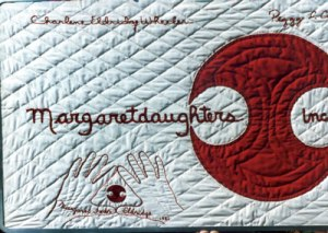 Margaretdaughters banner made by Margaret Eldridge (Charlene's mother)